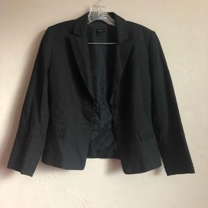 Tahari Black Beaded Blazer